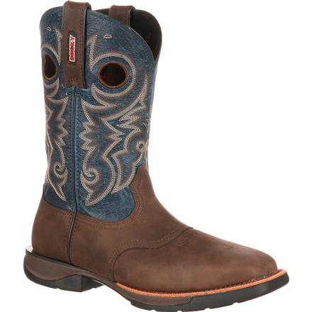 Rocky LT Steel Toe Saddle Western Boot, , large