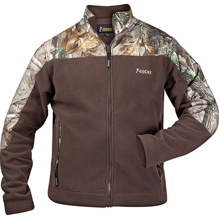 Rocky SilentHunter Fleece Jacket, Realtree AP, large
