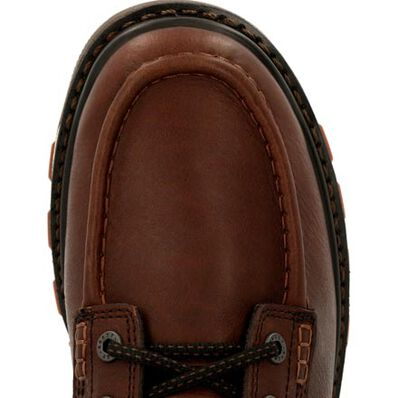 Rocky Rams Horn Unlined Brown Work Wedge, , large
