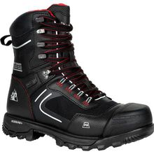 "Rocky XO-Toe Composite Toe PR Waterproof 8"" Side Zip Work Boot"