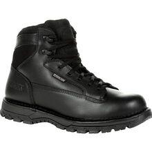 """Rocky Portland 6"""" Black Side Zip Waterproof Public Service Boot"""