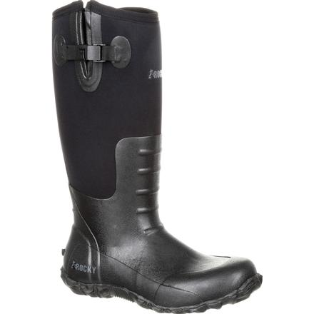 Rocky Core Black Rubber Waterproof Outdoor Boot