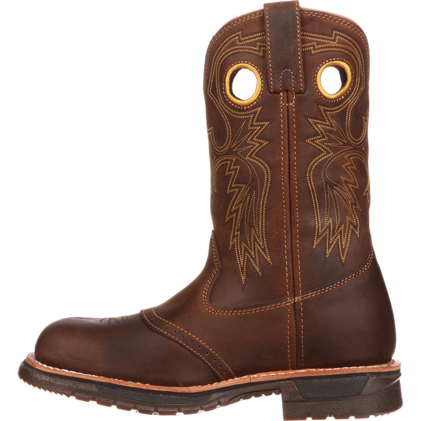 tienda oficial 100% de alta calidad mejores zapatos Bota de trabajo vaquera con punta de acero Rocky Original Ride