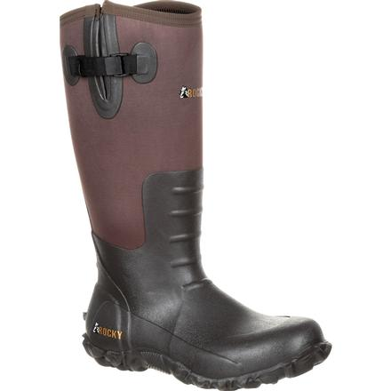 Rocky Core Brown Rubber Waterproof Outdoor Boot