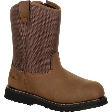Rocky Big Kid's Lil Ropers Outdoor Boot, , large