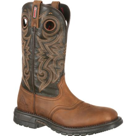 Rocky Original Ride Waterproof Western Saddle Boot, , large