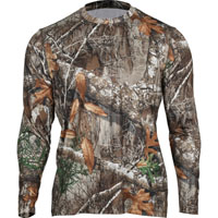 Rocky Camo Long-Sleeve Performance Tee Shirt, Realtree Edge, medium