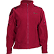 Rocky Women's Full Zip Fleece Jacket, Red Mossy Oak, small