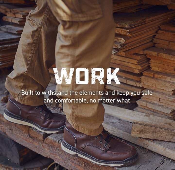 Work: Built to withstand the elements and keep you safe and comfortable, no matter what.