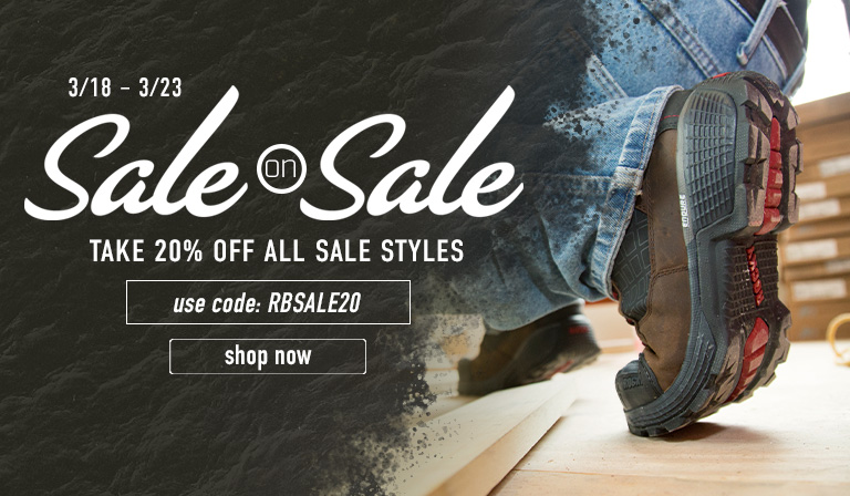Take 20% off sale styles. Use code RBSALE20 until 23 March. Click to shop now.