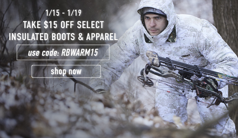 Take $15 off on select insulated apparel and boots. Use code RBWARM15 until 19 January. Click to shop flash sale now.