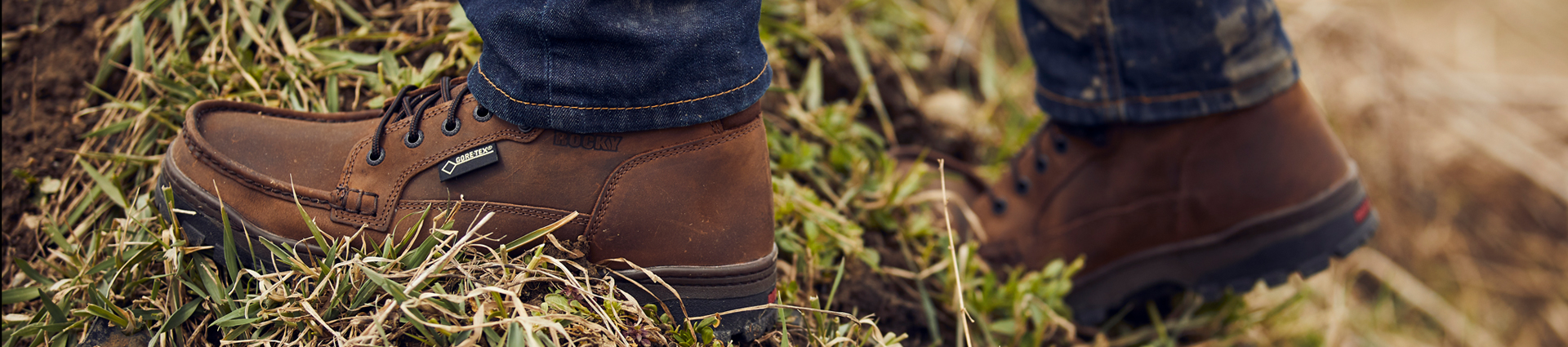 person wearing rocky outback outdoor boots