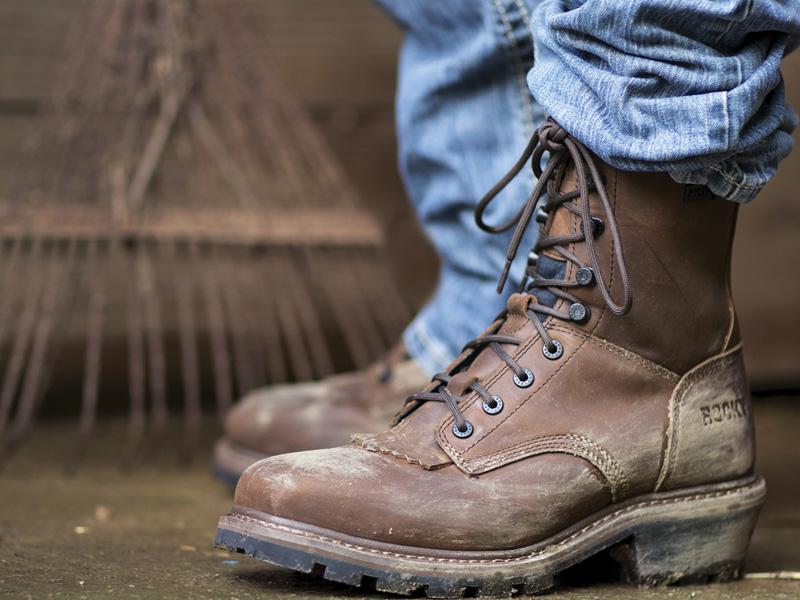 rocky logger kiltie boots