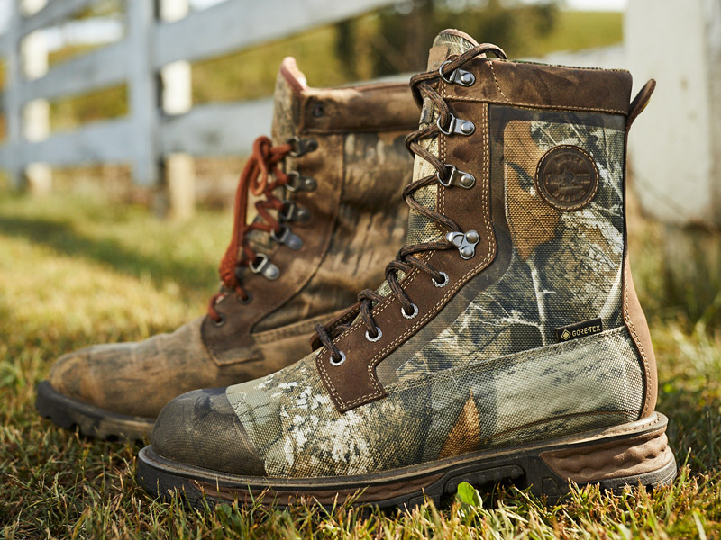 rocky cornstalker nxt insulated hunting boots with realtree or mossy oak camo