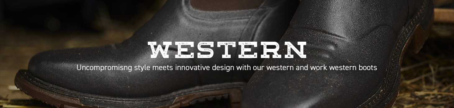 Western: Uncompromising style meets innovative design with our western and work western boots.