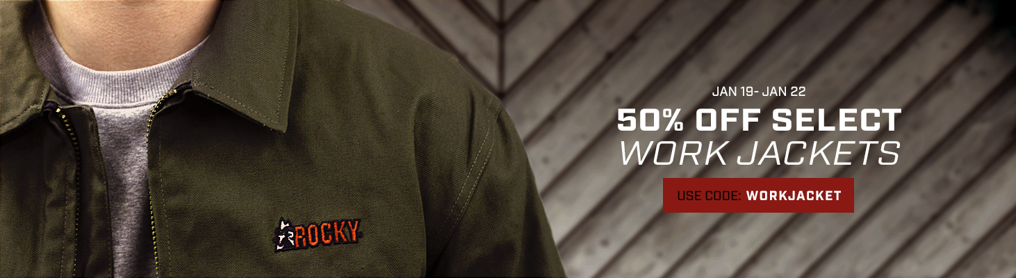 Take 50% off select work jackets. Use code WORKJACKET until 22 January 2020 at 11:59pm (EST). Click to shop now.