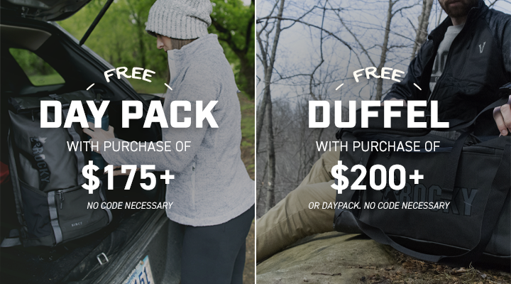 Get a Daypack when you spend $175 or more and a Duffel when you spend $200 or more; until 15 December 2019 at 11:59pm (EST). Click to shop now.